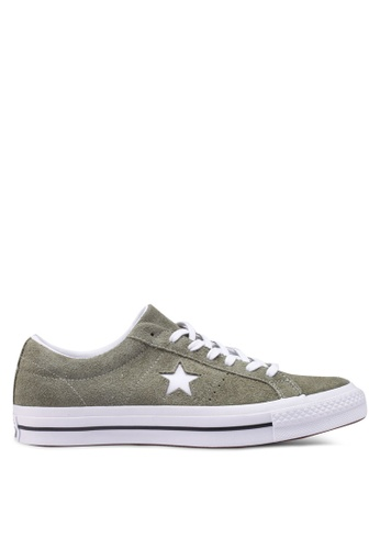 Converse green One Star Vintage Suede Ox Sneakers 1B95ESH7769DE0GS_1