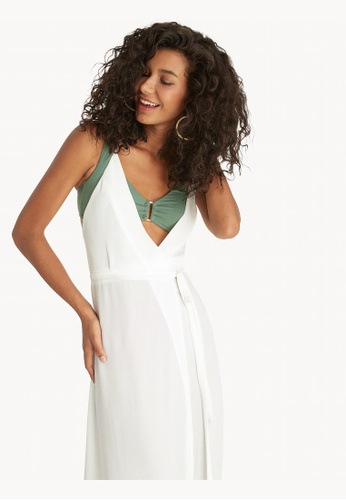 cb47aa4cf6 Buy Pomelo Maxi Open Back Cover Up Dress - White Online   ZALORA Malaysia