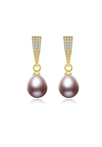 SUNRAIS gold Premium color stone gold simple design earrings 8205FAC5B8EE3EGS_1