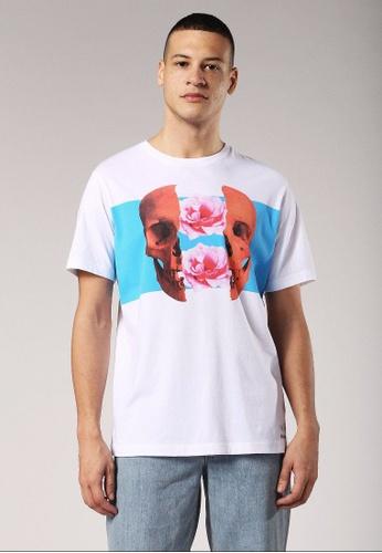 Diesel white T-Just-Sw Regular Fit T-Shirt 51482AA9B974E9GS_1