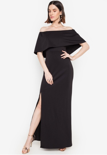 Hug black Shiloh Off-shoulder Dress D050FAAD960E4DGS_1