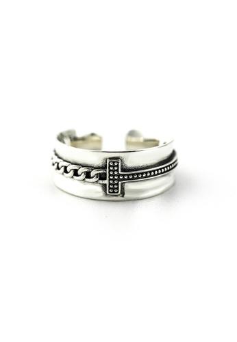 OrBeing white Premium S925 Sliver Geometric Ring 11B1FACBE442BAGS_1