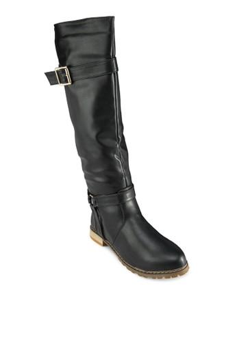 Lorelei 雙飾zalora時尚購物網評價帶高筒靴, 女鞋, 鞋