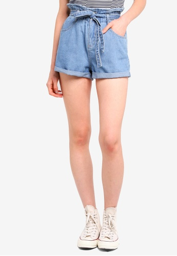 Cotton On blue Paperbag Shorts D4A2EAA95A9762GS_1