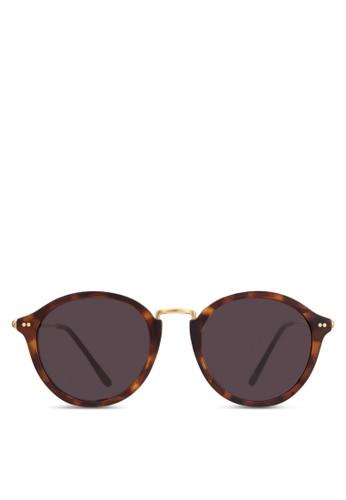 Maui 玳瑁圓框太陽眼鏡, 飾品配件, esprit 台中飾品配件
