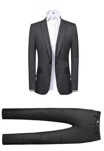 HAPPY FRIDAYS Slim Casual Textured Suit(Two Piece Set) 8636-1 AA2BDAA7BB384FGS_1