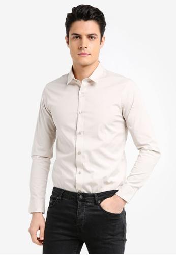 Calvin Klein white Wilbert Long Sleeve Shirt - Calvin Klein Jeans 17B4AAAD035C00GS_1