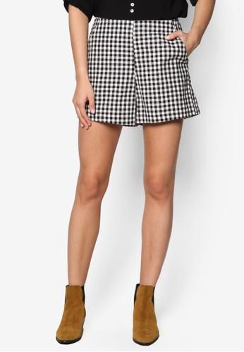 格紋短褲,esprit香港門市 服飾, 休閒短褲