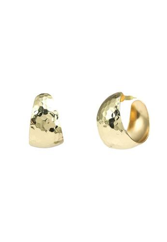 Red's Revenge gold Hammered Bold Hoop Earrings 6D0FAAC2D3BA69GS_1