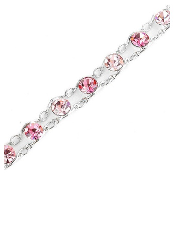 Glamorousky pink Glistening Bracelet with Pink Austrian Element Crystals 29131AC7CD7B64GS_1