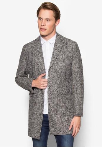 羊毛esprit台灣outlet斜紋大衣, 服飾, 服飾