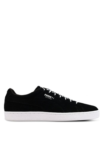 "Puma black Sportstyle Prime Suede Classic ""Other Side"" Shoes A505CSH4D3AD32GS_1"