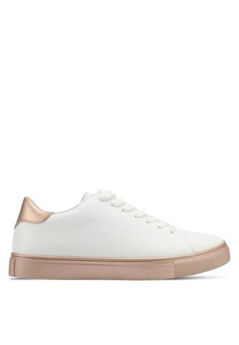 ZALORA white Double Pu Detail Sneakers 5CBD3SHD48A0B3GS_1