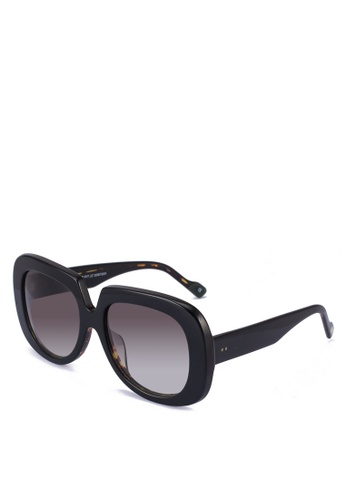 Le Specs black and red and brown Bed Of Roses Alt Fit 2087201 Sunglasses 2F37AGLDACF4B5GS_1