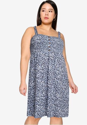 Only CARMAKOMA blue Plus Size Pelly Dress D25C1AAC2D54E7GS_1