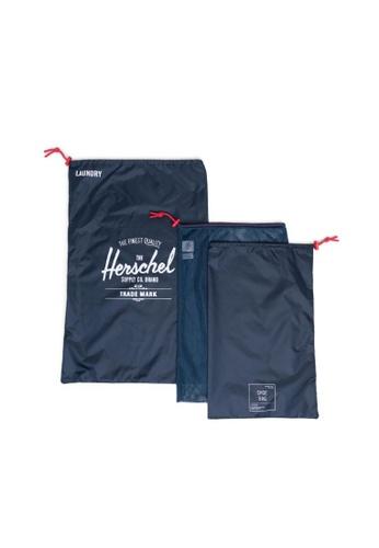 Herschel navy Herschel Unisex Laundry Bag Navy/Red 8561CACACA4718GS_1