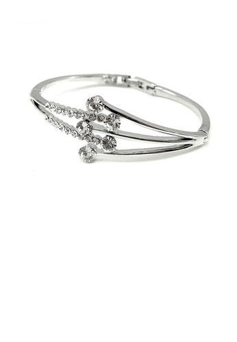 Glamorousky silver Elegant Bangle with Silver Austrian Element Crystal 991FAAC0426351GS_1