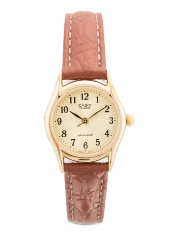 LTP-1094Q-9BRDF 皮革女性圓esprit 兼職錶, 錶類, 飾品配件