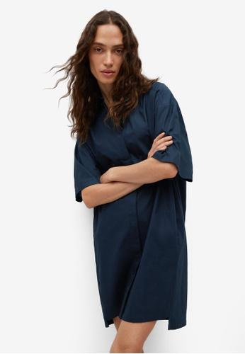 Mango 藍色 棉 襯衫洋裝 2F8C5AA86C4335GS_1