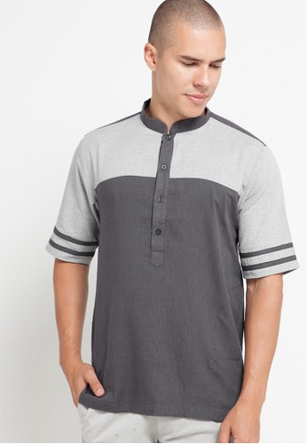 Zavier grey Two Tone Listed Short Sleeve Koko B0A94AA95CBCB7GS_1