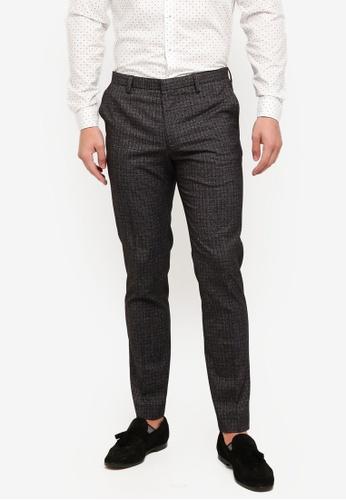 Burton Menswear London 灰色 格紋西裝褲 A090CAACD3129CGS_1