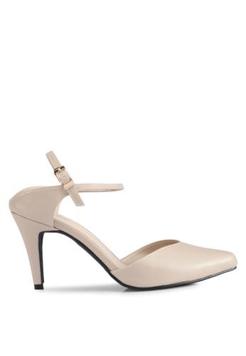 Bata beige Bata Pointed Toe Strappy Heels 50DBFSH686858EGS_1