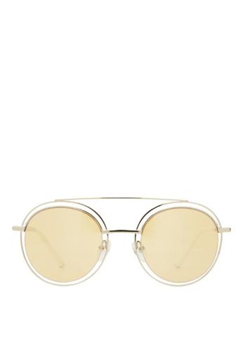 Carin yellow and multi and silver Sedgwick C4 Sunglasses B7F68GL79F65DEGS_1