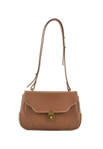 Lara brown Women's French Style PU Leather Shoulder Bag Cross-body Bag - Khaki 456A1AC9844E68GS_1