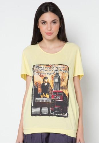 TRISET yellow Short Sleeve Tee 304 TR969AA97KDYID_1