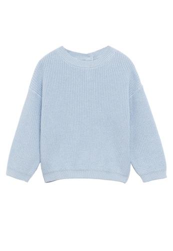 MANGO BABY blue Knit Cotton Sweater 65822KABF9F44BGS_1