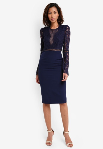 Bardot navy Faedra Lace Dress BA332AA0ST8JMY_1
