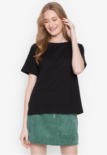 Springfield black Fall T-Shirt 8C01AAA733F547GS_1