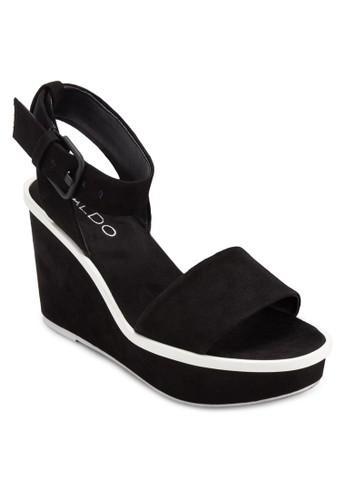 Mayganzalora鞋 寬帶繞踝楔型跟鞋, 女鞋, 楔形涼鞋