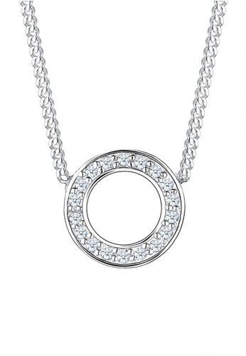 ELLI GERMANY Elli Germany 925 Sterling Silver Kalung Diamond Circle Sterling Silver