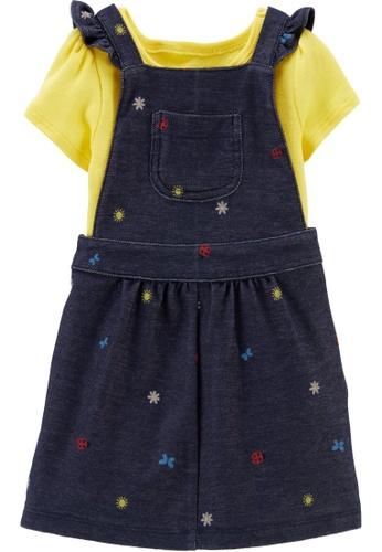 Carter's blue CARTER'S Girl Yellow Bodysuit & Skirtall Set EF079KA96F8CC3GS_1