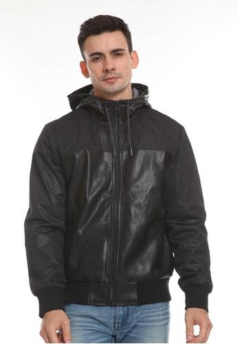 MANZONE black POMP-BLACK Jacket 60D1AAA9749816GS_1