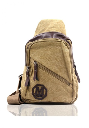 Attraxion Men's and Accessories brown Toby 8811-14 Crossbody Bag 24DD7ACC6324A2GS_1