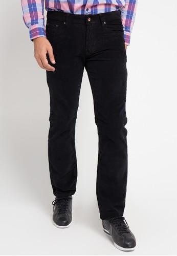 Jimmy Martin black Celana Panjang Corduroy Premium F3A54AAD91B85AGS_1