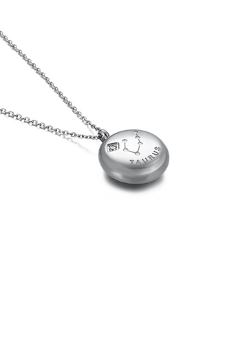 Glamorousky white Fashion and Simple Twelve Constellation Taurus 316L Stainless Steel Pendant with Cubic Zirconia and Necklace 6D872AC8DD9C6EGS_1