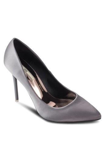 絲綢金屬感鞋墊尖zalora 台灣門市頭高跟鞋, 女鞋, 鞋