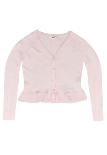 FOX Kids & Baby pink Knit Cardigan with Frill C7122KA6DC62DCGS_1