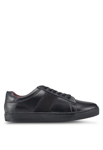 Acuto black Leather Sneakers B34F2SH9EBA9D1GS_1
