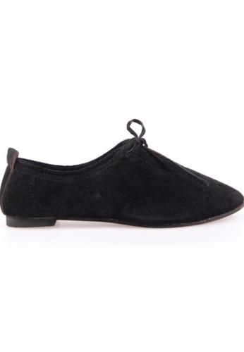 Sunnydaysweety black Retro New Suede Straps Flat Shoes RA10131BK SU443SH81XIWHK_1