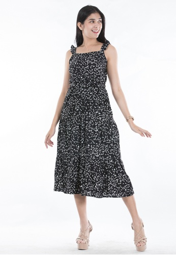Ninety Nine Point Nine Boutiq black Sleeveless Flair Maxi Dress 138B5AAEB6788AGS_1