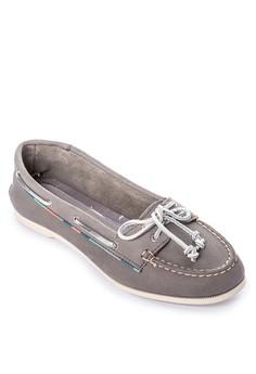 Audrey Satin Piping Boat Shoes