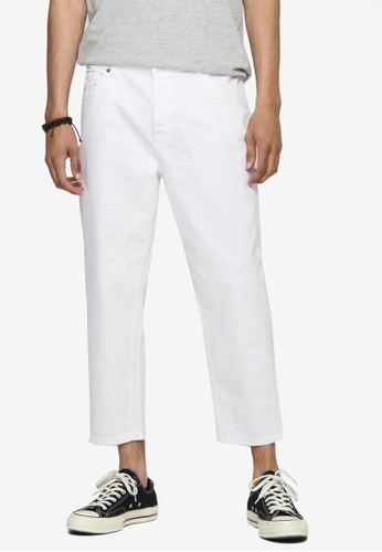 Only & Sons white Avi Life Beam Crop Pants 4D556AA79F5215GS_1