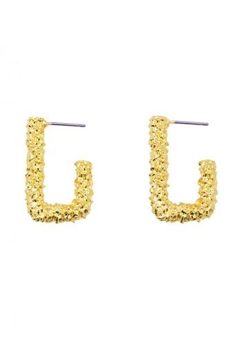 SKEDA gold Adele Textured Drop Earrings 13320AC9015126GS_1