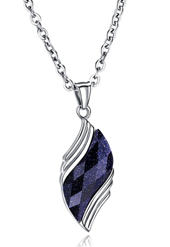 Trendyshop blue and silver Blue Pendant Necklace 68940AC77A2DE6GS_1