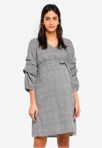 Mama.licious grey Nanna 3/4 Woven Dress 0888BAA7C7E7E9GS_1