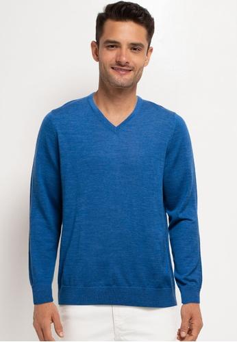 GAP 藍色 Merino Sweater DCD07AA08E9D39GS_1